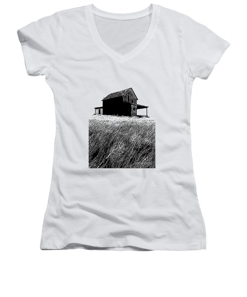 From Days Gone By Women's V-Neck T-Shirt (Junior Cut) by Vivian Christopher