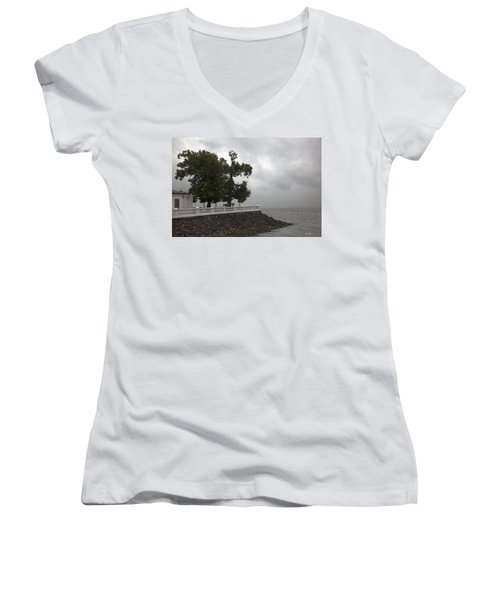 From Russia With Love Women's V-Neck T-Shirt (Junior Cut) by Madeline Ellis