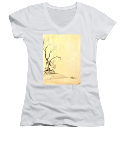 From The Beginning Women's V-Neck T-Shirt