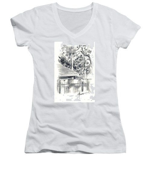 From The Breakfast Room Window Women's V-Neck