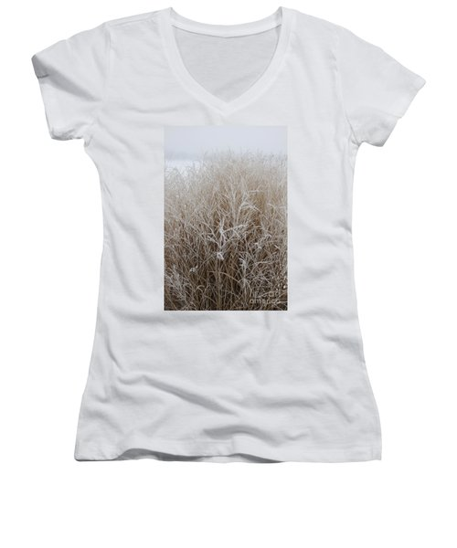Frozen Grass Women's V-Neck (Athletic Fit)