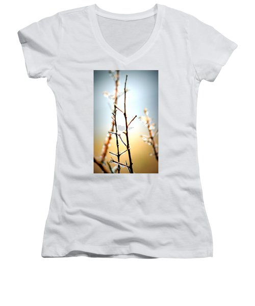 Frozen In Light Women's V-Neck T-Shirt