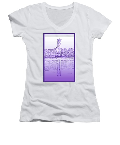 Furman Bell Tower Women's V-Neck (Athletic Fit)