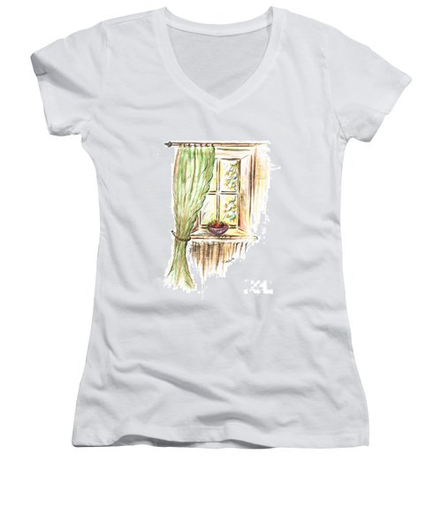 Garden View Women's V-Neck T-Shirt