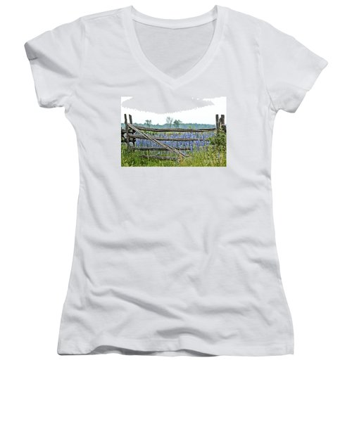 Gate To Blue Women's V-Neck T-Shirt