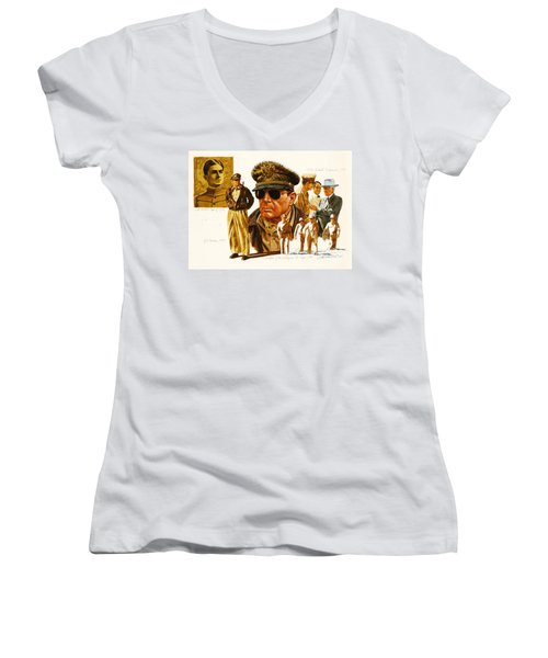 General Macarthur Women's V-Neck T-Shirt (Junior Cut)