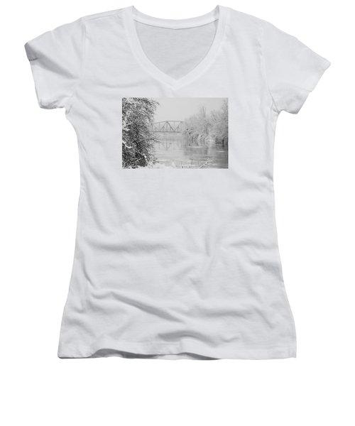 Genesee River Women's V-Neck T-Shirt