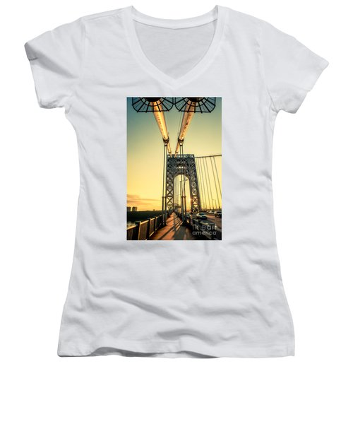 George Washington Sunset Women's V-Neck