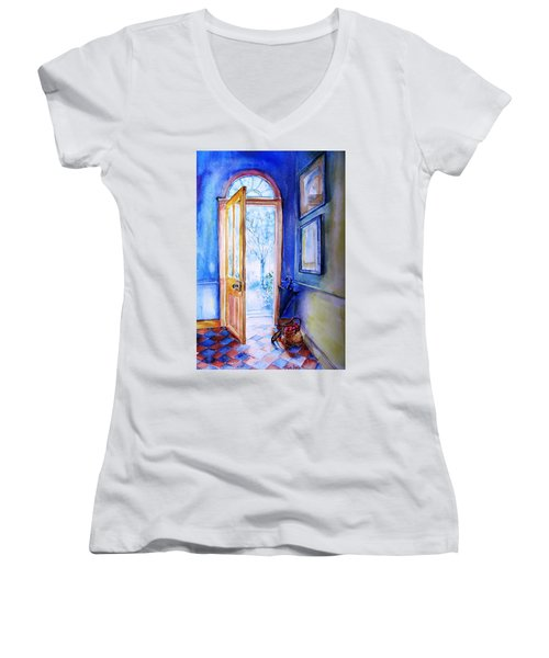 Winter Doorway Ireland    Women's V-Neck T-Shirt