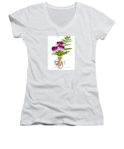 Geranium 'witchwood' Women's V-Neck (Athletic Fit)