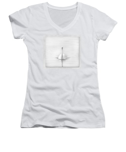 Ghostly White Women's V-Neck T-Shirt (Junior Cut) by Lynn Bolt
