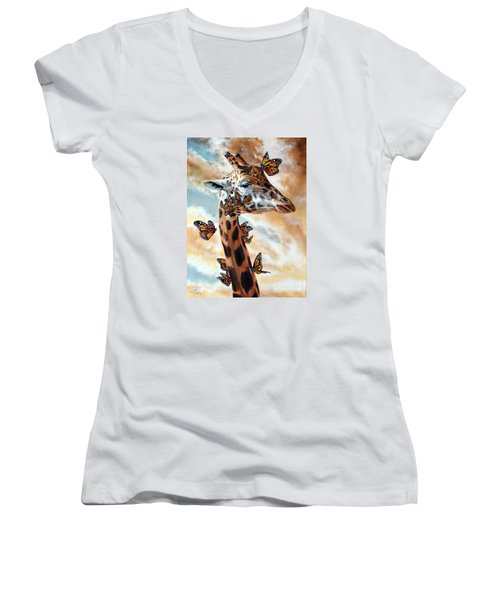 Fleeting Women's V-Neck T-Shirt