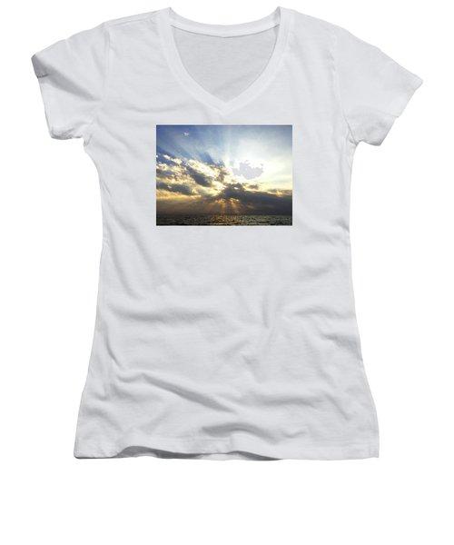 Glorious Rays Of Sunshine Women's V-Neck T-Shirt