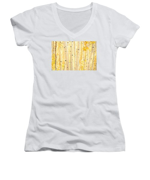 Golden Aspens Utah Women's V-Neck (Athletic Fit)