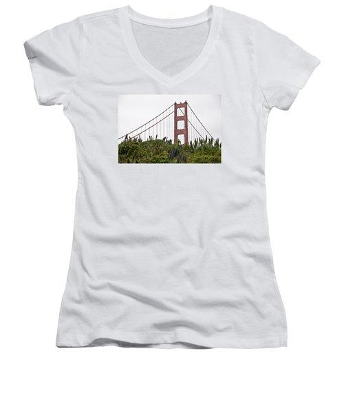Golden Gate Bridge 1 Women's V-Neck