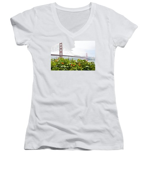 Golden Gate Bridge 2 Women's V-Neck