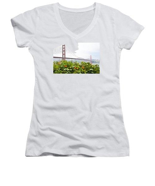 Golden Gate Bridge 2 Women's V-Neck