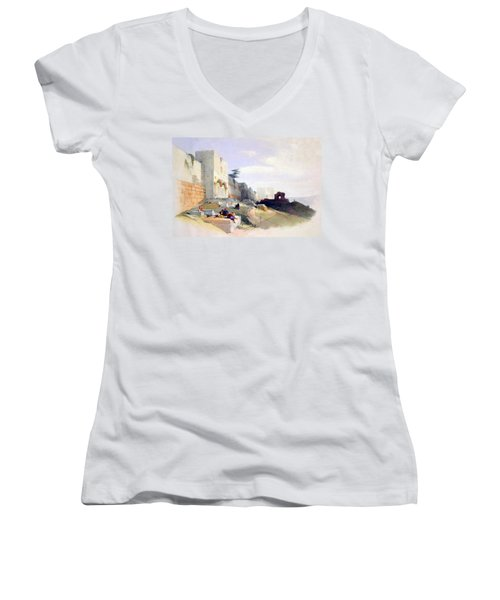 Golden Gate Of The Temple Women's V-Neck (Athletic Fit)