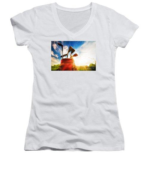 Golf Equipment  Women's V-Neck T-Shirt