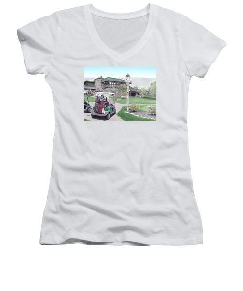 Golf Seven Springs Mountain Resort Women's V-Neck T-Shirt