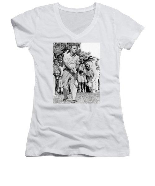 Golfer Arnold Palmer Women's V-Neck