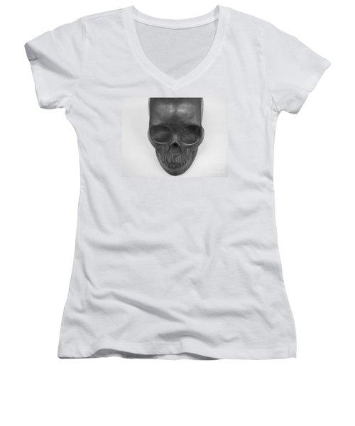 Women's V-Neck T-Shirt (Junior Cut) featuring the photograph Goonies by Michael Krek
