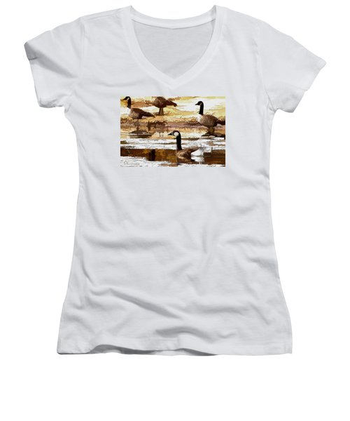 Goose Abstract Women's V-Neck (Athletic Fit)