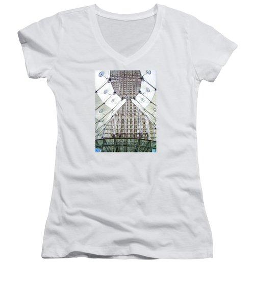 Grand Arche  Women's V-Neck T-Shirt (Junior Cut) by Oleg Zavarzin