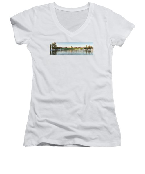 Grand Basin In Autumn Women's V-Neck (Athletic Fit)