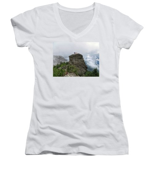 Grandfather Mountain Hikers Women's V-Neck