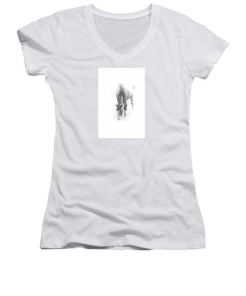 Grazing Women's V-Neck T-Shirt (Junior Cut) by John Stuart Webbstock