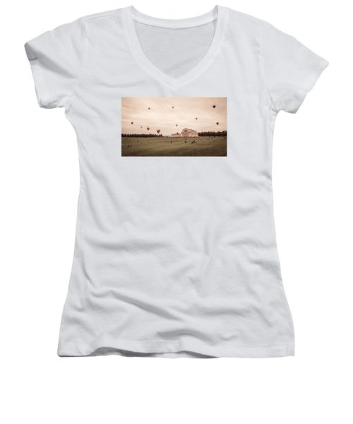 Great Forest Park Balloon Race Women's V-Neck (Athletic Fit)