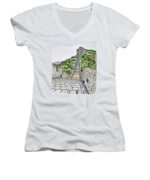Greatest Wall Ever Women's V-Neck (Athletic Fit)