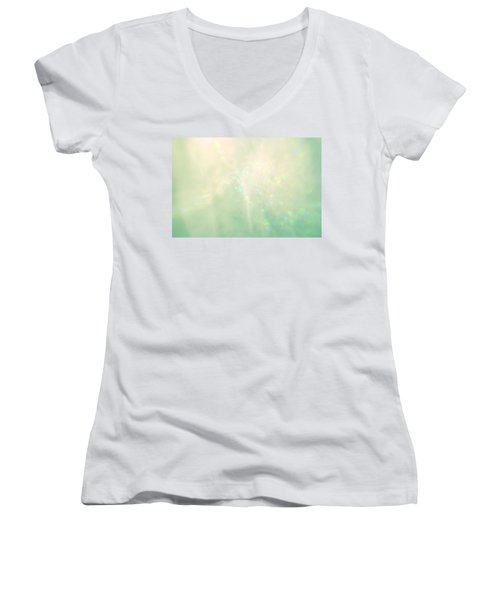 Green Hearts Women's V-Neck