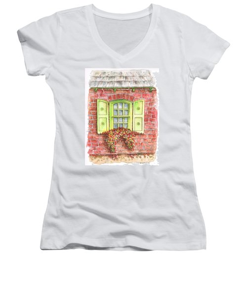 Green Window Women's V-Neck (Athletic Fit)