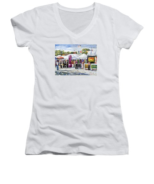 Greenwich Art Fair Women's V-Neck T-Shirt