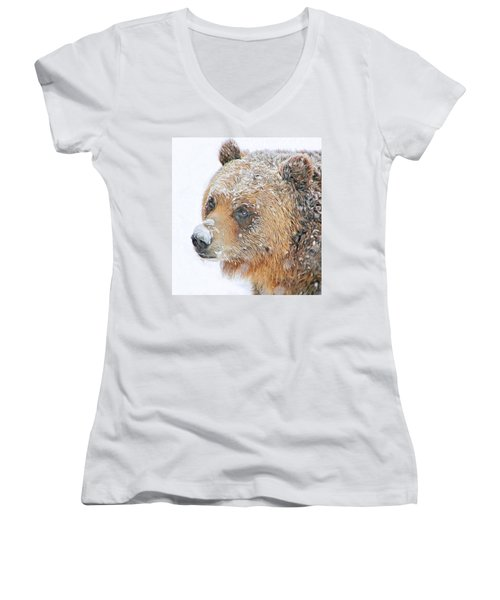 Grizzly Frost Women's V-Neck (Athletic Fit)