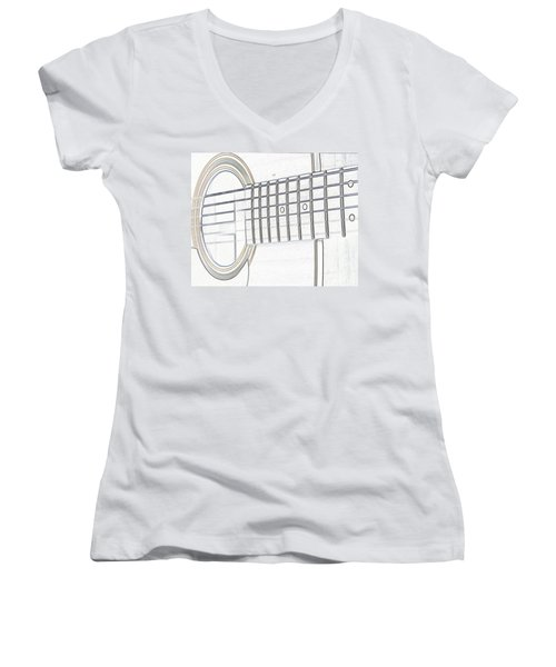 Guitar Man Women's V-Neck (Athletic Fit)