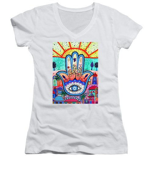 Hamesh Evil Eye Women's V-Neck
