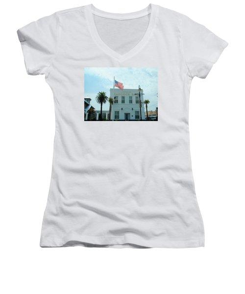 Bay Saint Louis - Mississippi Women's V-Neck T-Shirt (Junior Cut) by Deborah Lacoste