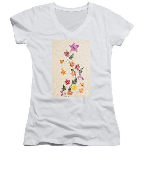 handmade paper from Madagascar 3 Women's V-Neck T-Shirt (Junior Cut) by Rudi Prott