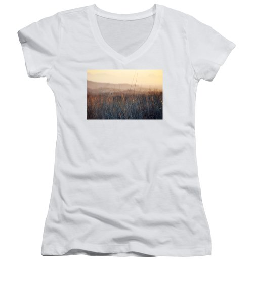 Women's V-Neck T-Shirt (Junior Cut) featuring the photograph Happy Camp Canyon Magic Hour by Kyle Hanson