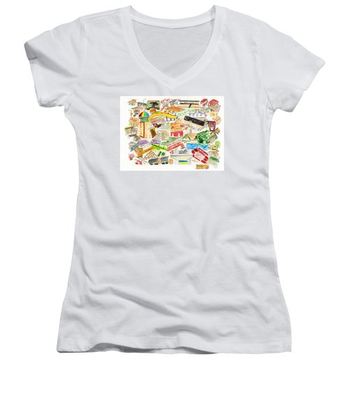Harlem Collage Women's V-Neck (Athletic Fit)
