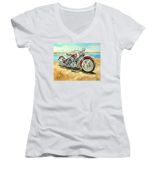 Harley Davidson 1960 Women's V-Neck (Athletic Fit)
