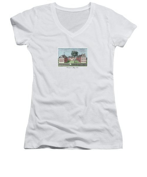 Harvard College - 1720 Women's V-Neck (Athletic Fit)