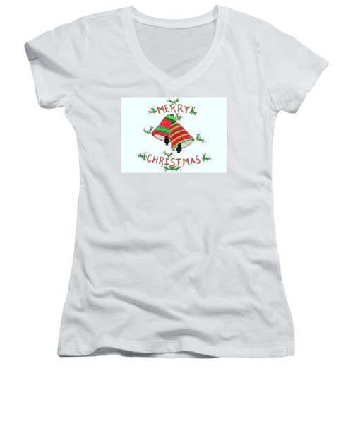 Merry Christmas Women's V-Neck (Athletic Fit)