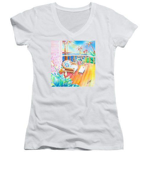 Hawaiian Sunset Women's V-Neck