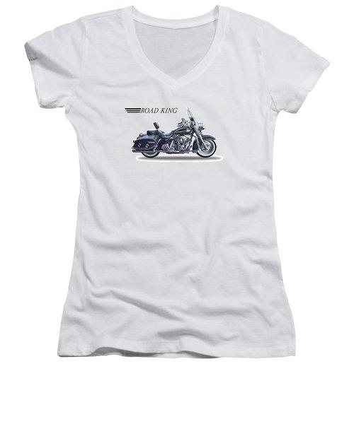 H D Road King Women's V-Neck T-Shirt