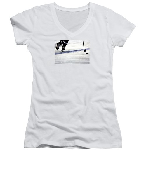 He Skates Women's V-Neck T-Shirt