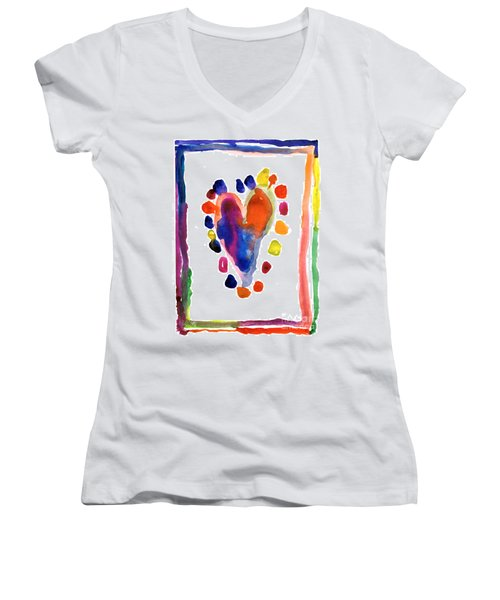 Heart Women's V-Neck